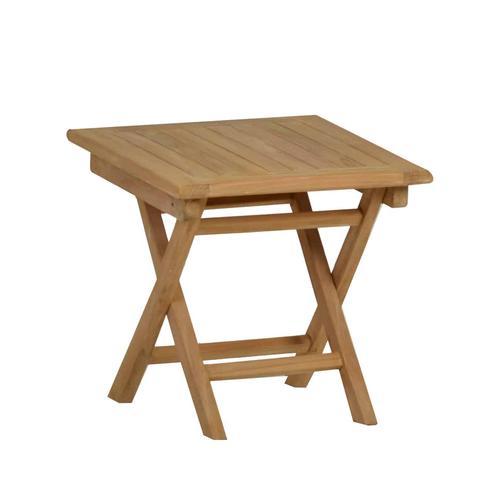 MiaMöbel Teak Beistelltisch/Klapptisch 50cm Massivholz Teak Modern