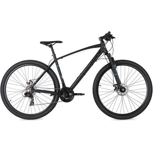 KS Cycling Mountainbike Larrikin, 21 Gang, Shimano, Tourney Schaltwerk, Kettenschaltung schwarz Hardtail Mountainbikes Fahrräder Zubehör