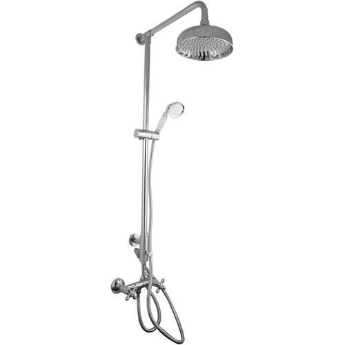 Nostalgie Aufputz Duschsystem mit Armatur