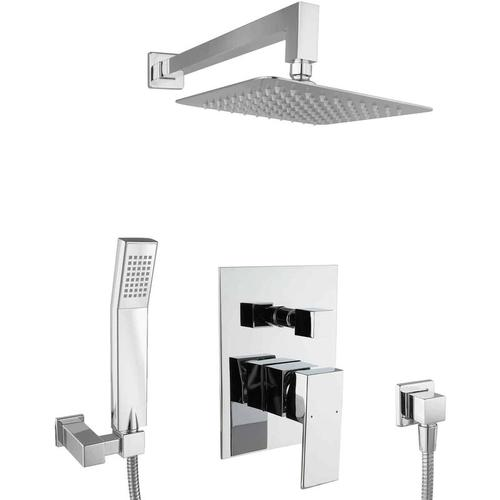 Duschset eckig Unterputz Duschsystem 20cm