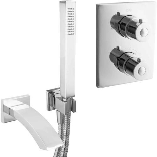 Unterputz Wannenset Komplett Mischbatterie Thermostat