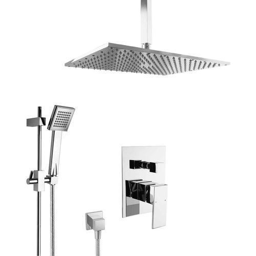 Unterputz Set Dusche mit Duschstange Messing Regendusche