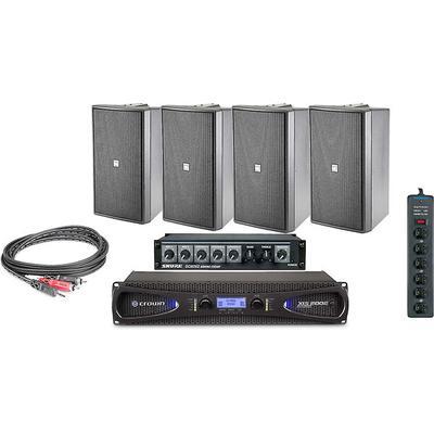 JBL Pro Gym bundle W/Cables/Amp/Mixer