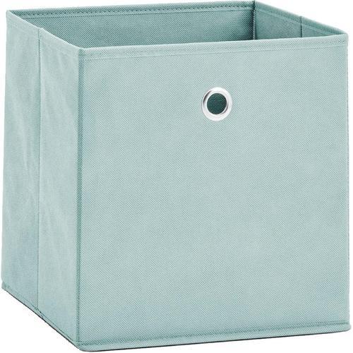 Zeller Present Aufbewahrungsbox, (Set, 2 St.), faltbar und schnell verstaut grün Körbe Boxen Regal- Ordnungssysteme Küche Ordnung Aufbewahrungsbox