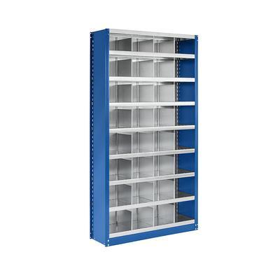 Rayonnage emboîtable modulaire, hauteur 1990 mm 32 casiers, l x p 1000 x 300 mm | EUROKRAFTpro