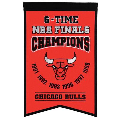"""Chicago Bulls 14"""" x 22"""" Champs Banner"""
