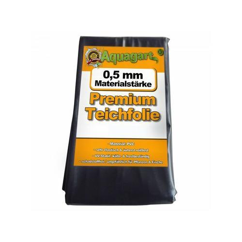 Teichfolie PVC 3m x 6m 0,5mm schwarz Folie für den Gartenteich