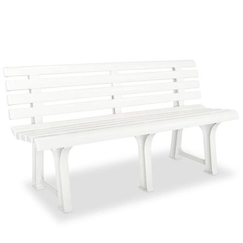 Gartenbank 145,5 cm Kunststoff Weiß