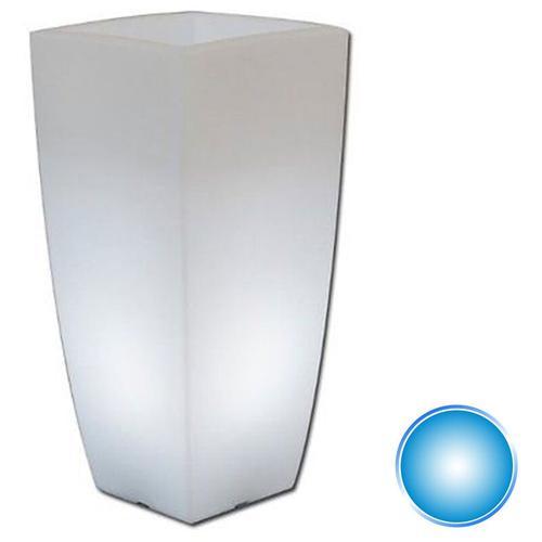 Harz-Blumentopf mod. Agave Eckig mit Blaue Lampe 40x40 CM H90