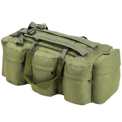 vidaXL 3-in-1 Seesack Armee-Stil 120 L Olivgrün