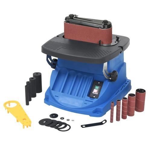 vidaXL Oszillierende Spindel- und Bandschleifmaschine 450 W Blau