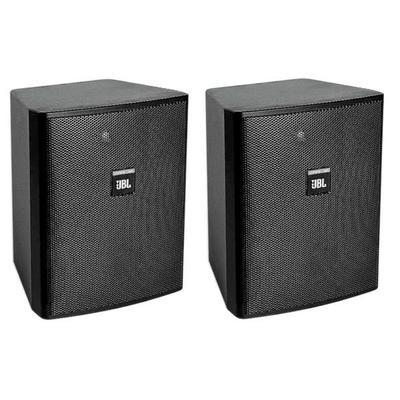 JBL Control 25AV Two-Way 5.25 in. Shielded Indoor/Outdoor Speaker Pair - Black