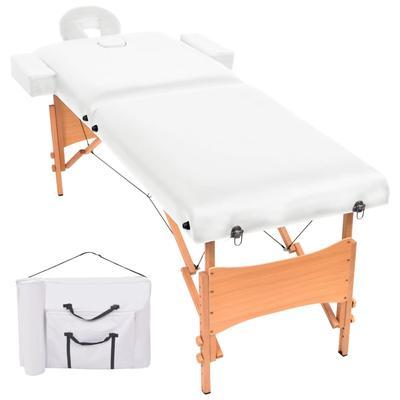 vidaXL Table de massage pliable ...