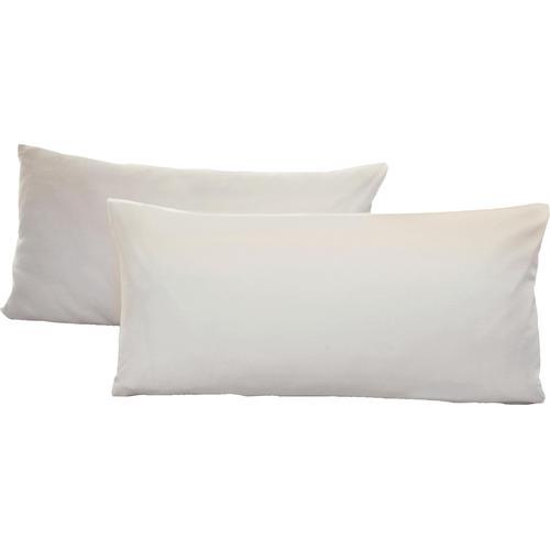 Schlafgut Kissenbezug Jersey, (2 St.), mit Aloe Vera Ausrüstung weiß Kissenbezüge gemustert Kissen