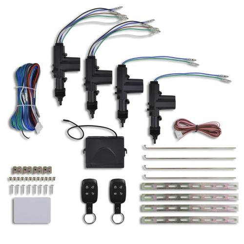 vidaXL Auto Zentralverriegelung Verriegelung Set 12V
