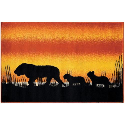 Arte Espina Kinderteppich Lol Kids 4426, rechteckig, 11 mm Höhe, Löwen Motiv orange Kinder Bunte Kinderteppiche Teppiche