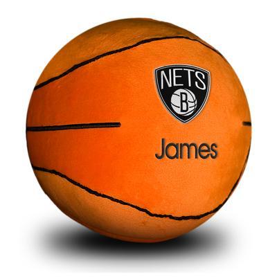 """""""Orange Brooklyn Nets Personalized Plush Baby Basketball"""""""