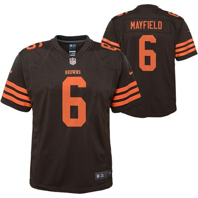 Youth Cleveland Browns Baker Mayfield Nike Brown Player Game Jersey