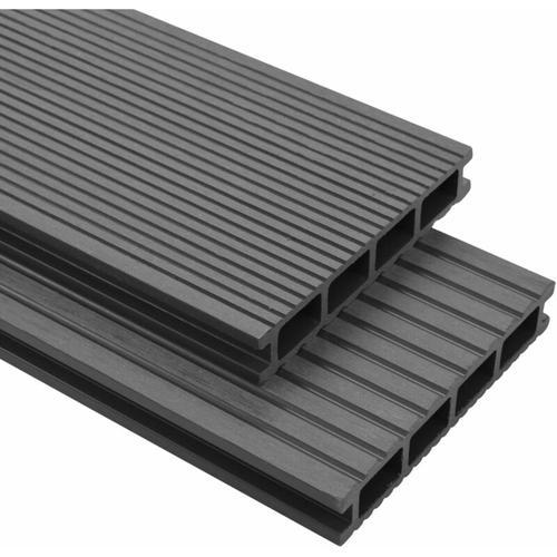 WPC Terrassendielen mit Zubehör 10 m² 4 m Grau