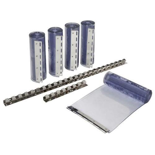 PVC-Streifenvorhang im Set, transparent 300 x 3 mm, 225 cm