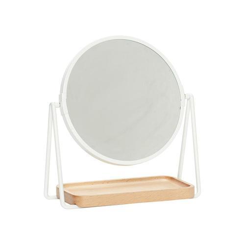 Hübsch Tischspiegel mit Ablage Weiß