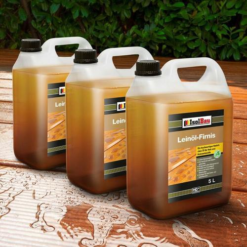 NATUR Holzschutz LEINÖL- FIRNIS 15 L Holzöl Leinölfirnis Holz Möbel Lasur HQ