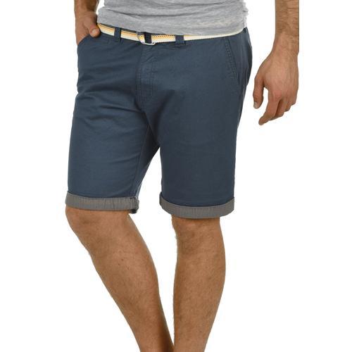 Solid Chinoshorts Lagos, (mit abnehmbarem Gürtel), kurze Hose mit Gürtel blau Herren Chinohosen Hosen