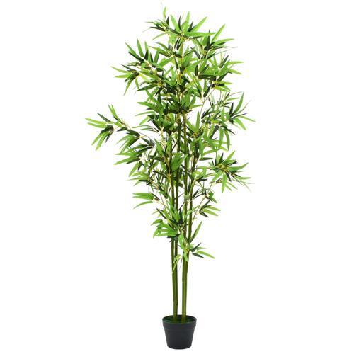 vidaXL Künstliche Bambuspflanze mit Topf 175 cm Grün