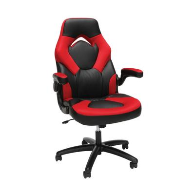 OFM Essentials Collection Racing Style Bonded Leather Gaming Chair in Red - OFM ESS-3085-RED