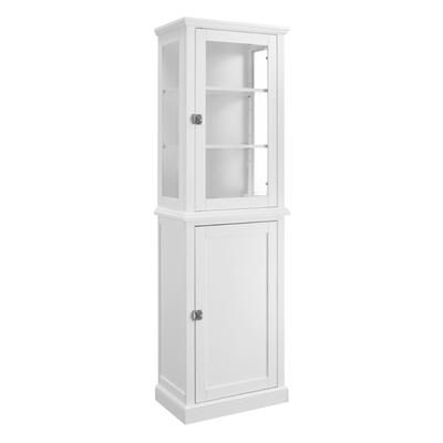 Scarsdale Tall Cabinet - Linon 98518WHT01
