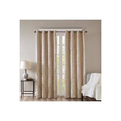 """""""SunSmart Mirage 50x95"""""""" Knitted Jacquard Total Blackout Panel in Champagne - Olliix SS40-0014"""""""