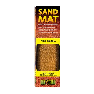 Exo-Terra Sand Mat Desert Terrarium Substrate, 10 Gal, Brown