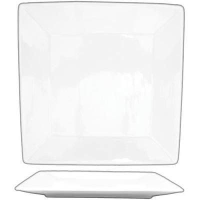 "ITI SP-8 8"" Square Slope? Plate - Porcelain, Bright White"