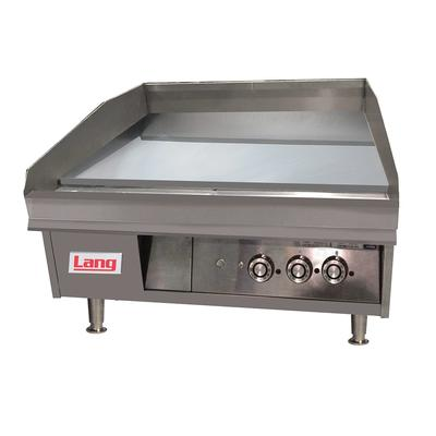 """Lang 248T 48"""" Gas Griddle w/ Thermostatic Controls - 1"""" Steel Plate, Natural Gas"""