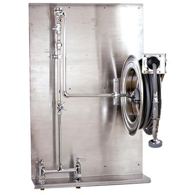 """T&S B-1436 Open Hose Reel Assembly w/ 35 ft Hose & Mixing Faucet - 1/2"""" NPT"""