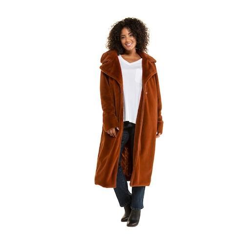 Große Größen Mantel Damen (Größe 50 52, kupfer-rot) | Ulla Popken Mäntel | Polyester, Satinfutter