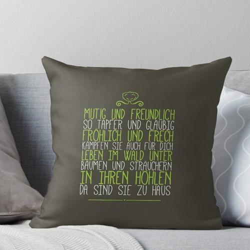 Gummibärenbande Song Lyrics Throw Pillow