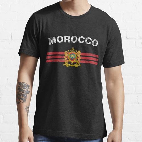Moroccan Flag Shirt - Moroccan Emblem & Morocco Flag Shirt Essential T-Shirt