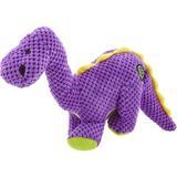 GoDog Dinos Chew Guard Bruto Squeaky Plush Dog Toy, Large