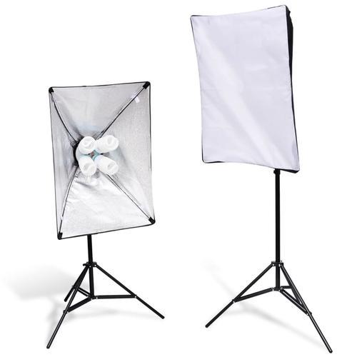 vidaXL 2x Leuchtenstative Studioleuchte 2x Softbox Fotolampe Fotostudio Set