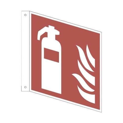 Sicherheitskennzeichen »Feuerlöscher [F001]« Fahnenschild 20 x 0,1 x 20 cm mehrfarbig, OTTO Office, 20x20 cm