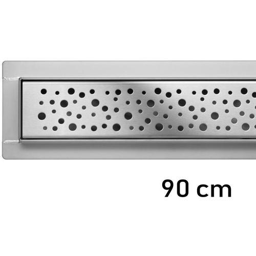 Duschrinne Bodenablauf Modell Napo Edelstahl Siphon Ablaufrinne 90 cm