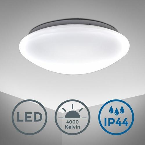 LED Deckenleuchte Bad rund Badezimmer-Leuchte IP44 Schlafzimmer Küche Flur Lampe
