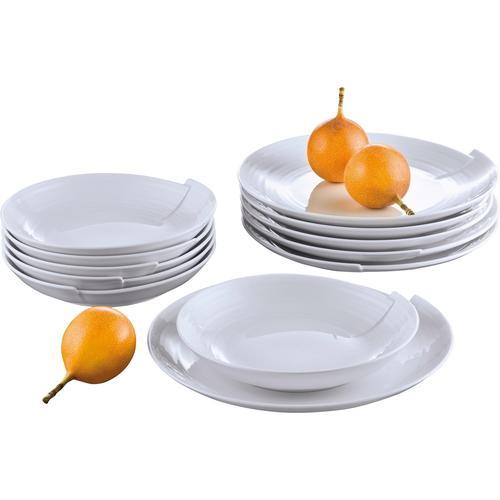Retsch Arzberg Tafelservice Julie, (12 tlg.) weiß Geschirr-Sets Geschirr, Porzellan Tischaccessoires Haushaltswaren