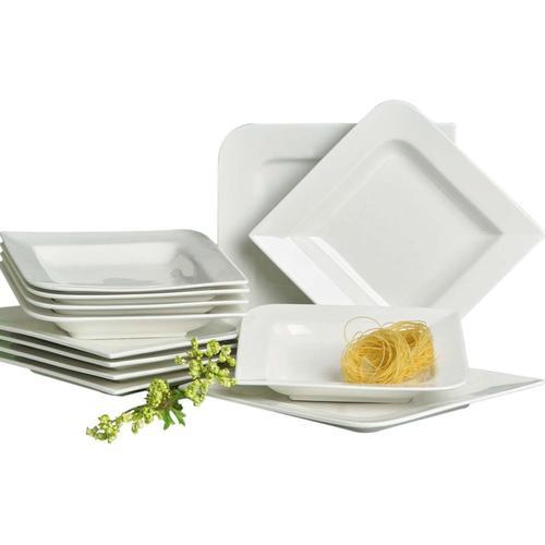 Retsch Arzberg Tafelservice Fantastic, (12 tlg.) beige Geschirr-Sets Geschirr, Porzellan Tischaccessoires Haushaltswaren
