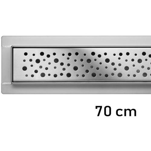 Duschrinne Bodenablauf Modell Napo Edelstahl Siphon Ablaufrinne 70 cm