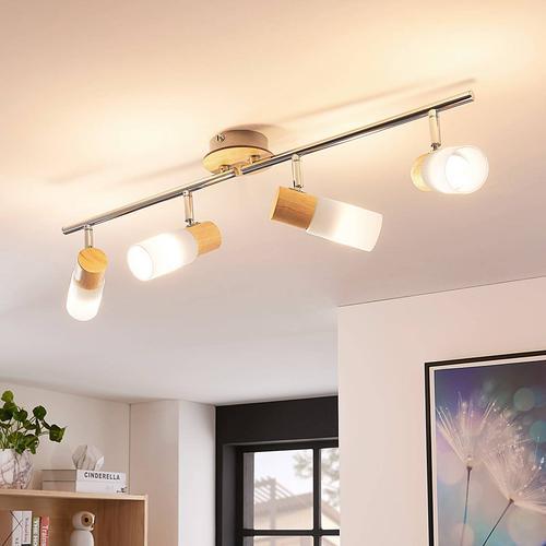 LED-Holzstrahler Christoph, 4-flammig