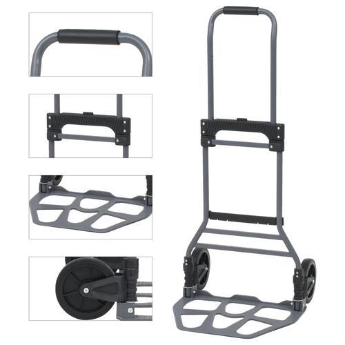 vidaXL Klappbare Treppensackkarre Sackkarre Handwagen Alu bis 130 kg