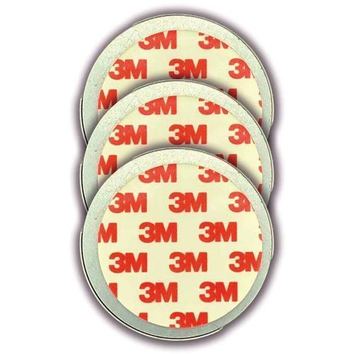 3er Set Magnethalter für Rauchmelder - CO Melder selbstklebend, (Magnetbefestigung Wand- und