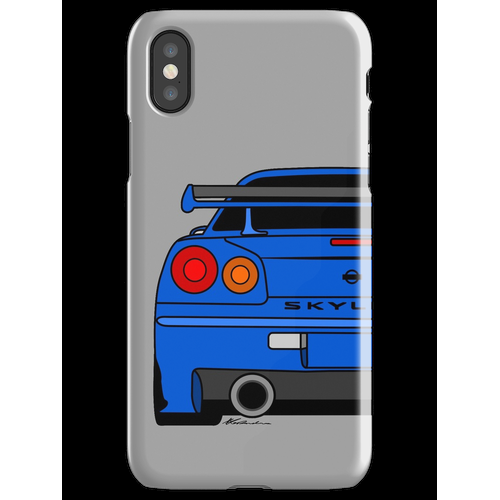 R34 Rear iPhone X Snap Case